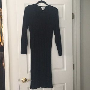 Black dress barn sweater dress
